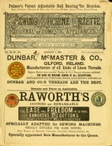 Cover of Sewing machine gazette
