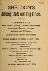 "Cover of ""Sheldon's jobbing trade and city offices"""