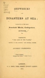 Cover of Shipwrecks and disasters at sea