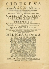 Cover of Sidereus nuncius