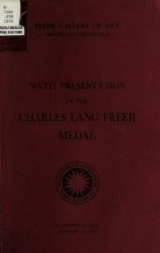 Cover of Sixth presentation of the Charles Lang Freer medal, January 16, 1974