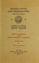 Cover of Skeletal remains from Santa Barbara, California. - I. Craniology