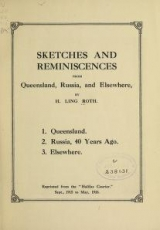 Cover of Sketches and reminiscences from Queensland, Russia, and elsewhere