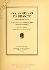 Cover of Sky fighters of France