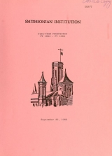 "Cover of ""Smithsonian Institution five year prospectus"""