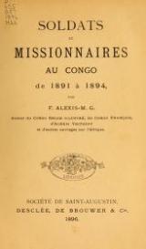 Cover of Soldats et missionnaires au Congo de 1891 à 1894