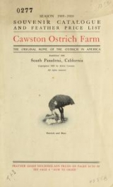 Cover of SOUVENIR OSTRICH FEATHER CATALOGU