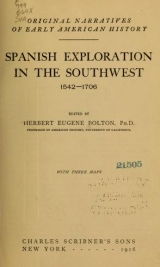 Cover of Spanish exploration in the Southwest, 1542-1706