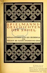 Cover of Spielmanns-geschichten der Sahel
