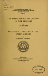 """Cover of """"The Spiro mound collection in the Museum /"""""""