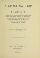 Cover of A sporting trip through Abyssinia