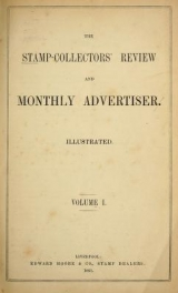 Cover of The stamp-collector's review and monthly advertiser