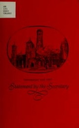 Cover of Statement by the Secretary