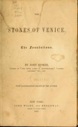 Cover of The stones of Venice