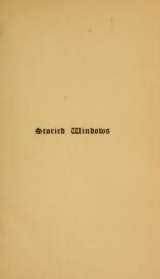 Cover of Storied windows