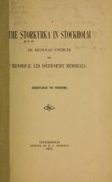 Cover of The Storkyrka in Stockholm