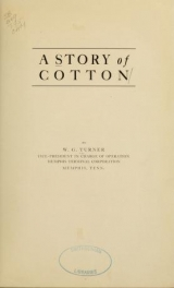 Cover of A story of cotton