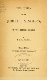 Cover of The story of the Jubilee Singers