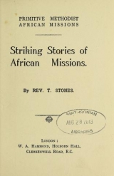 Cover of Striking stories of African missions