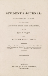 Cover of The Student's journal