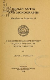 Cover of A suggested Nicaraguan pottery sequence based on the museum collection