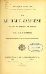 Cover of Sur le Haut-Zambèze voyages et travaux de mission
