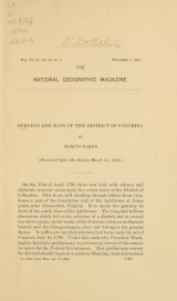 Cover of Surveys and maps of the District of Columbia