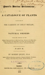 Cover of Sweet's Hortus Britannicus, or, A catalogue of plants cultivated in the gardens of Great Britain
