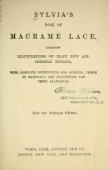 Cover of Sylvia's book of macramé lace