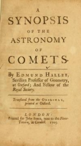 "Cover of ""A synopsis of the astronomy of comets /"""