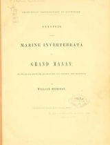 Cover of Synopsis of the marine Invertebrata of Grand Manan