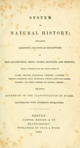 Cover of A System of natural history