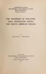 Cover of The technique of porcupine-quill decoration among the North American Indians