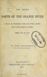 Cover of Ten years north of the Orange River