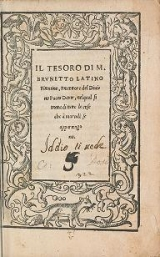 Cover of Il tesoro di m. Brvnetto Latino Firentino