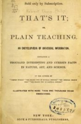 Cover of That's it; or, Plain teaching