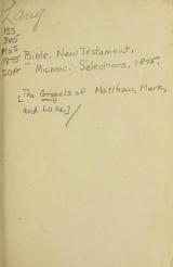 Cover of [The Gospels of Matthew, Mark, and Luke