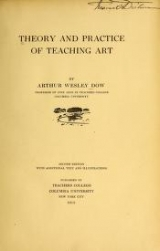 Cover of Theory and practice of teaching art