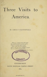 Cover of Three visits to America