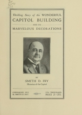 Cover of Thrilling story of the wonderful Capitol Building and its marvelous decorations