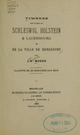 Cover of Timbres des duchès de Schleswig, Holstein & Lauenbourg et de la ville de Bergedorf