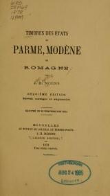 Cover of Timbres des états de Parme, Modène et Romagne
