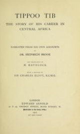 Cover of Tippoo Tib, the story of his career in Central Africa