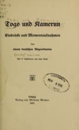 Cover of Togo und Kamerun