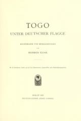 """Cover of """"Togo unter deutscher Flagge"""""""