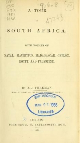 Cover of A tour in South Africa