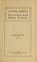 Cover of Trade names of perfumes and toilet articles