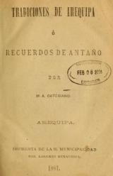 Cover of Tradiciones de Arequipa