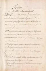 Cover of Traité de méchanique