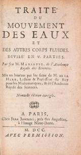 Cover of Traité du mouvement des eaux et des autres corps fluides